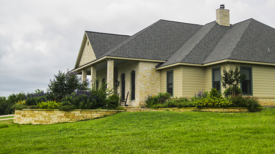Home landscape architecture in chappell Hill Texas by Grove Hill Farm