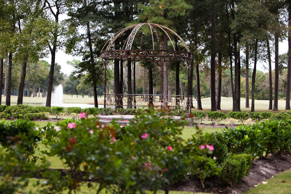 outdoor wedding venue landscape design, in Houston, TX